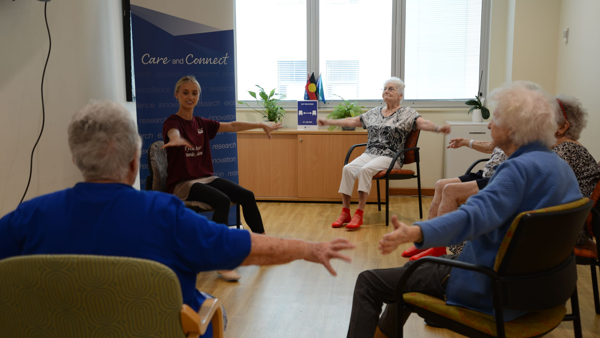 Queensland Ballet brings the joy of dance to the patients and residents at St Vincent's