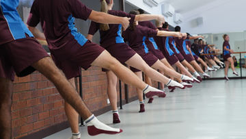John Paul College's elite athletes take to the barre with Queensland Ballet's FleX program