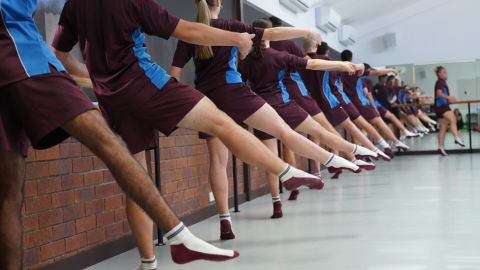 John Paul College's elite athletes take to the barre